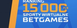 Ranking Betgames STS. Do wygrania 15.000 PLN!